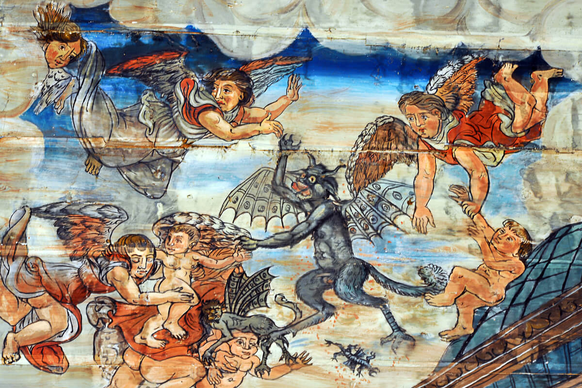 Peinture murale - église de Jézeau