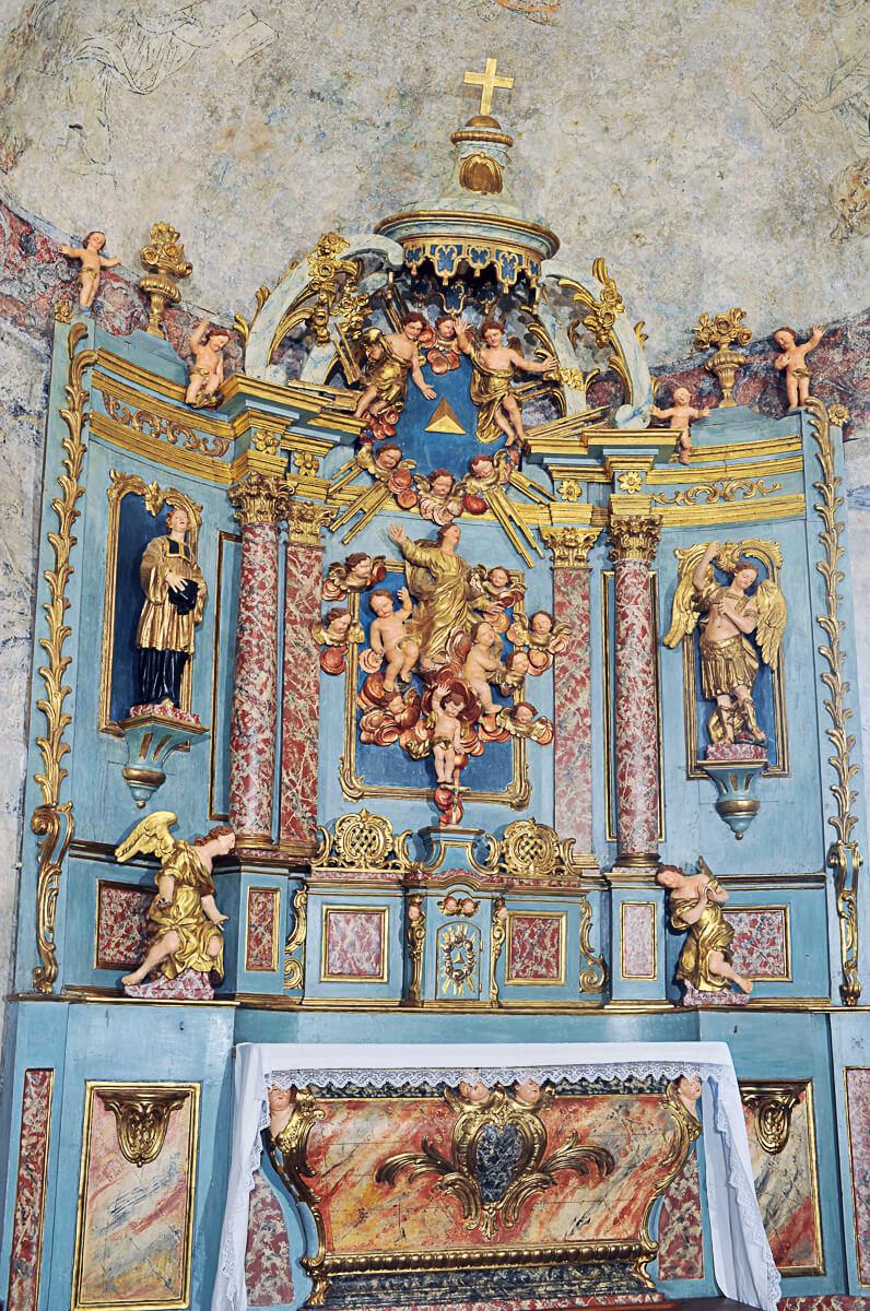 Retable baroque - église d'Aulon