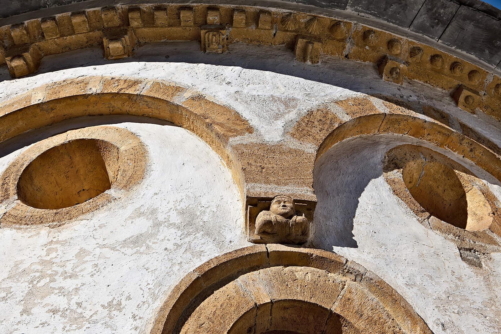Chevet de l'église de Jézeau (détail)